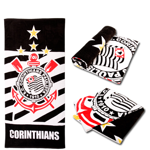 Football -Brasileiro Corinthians outdoor ride autumn and winter sports towel beach towel bath towel