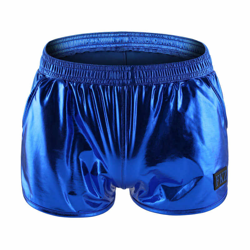 Boxers Underwear Nylon Sexy Men PU Faux Leather Underwear Boxers Shorts Sheathy Cool Male Gay Underwear Boxers Trunks