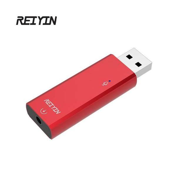 Reiyin USB الصوت المحمولة DAC 192 كيلو هرتز 24bit سماعة Toslink إخراج بصري خارجي كارت الصوت