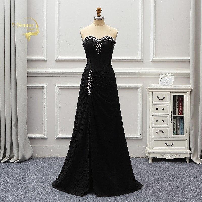 Vestidos De Fiesta De Noche Черные кружевные вечерние платья Vestido De Noiva 2019 Crystal Robe De Soiree женские вечерние платья EV015
