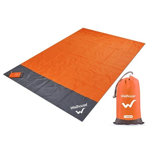 Походный коврик, водонепроницаемое пляжное одеяло, портативный коврик для пикника, коврик для пикника на открытом воздухе, коврик для пикника, одеяло, 1,4*2 м - Цвет: orange