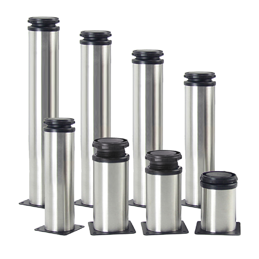 1PCS Stainless Steel Furniture Legs Adjustable 60 80 100 120 150 200 250 300mm Cabinet Table Sofa Bed Feet Legs