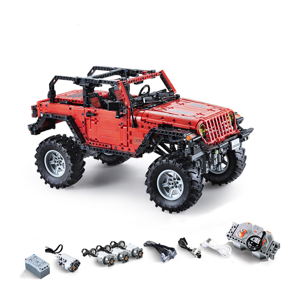 1941PCS CADA C61006 RC Block Off-Road Cars Portable Vehicle Wireless Remote Control Building Blocks Car Toy With LED Light1941PCS CADA C61006 RC Block Off-Road Cars Portable Vehicle Wireless Remote Control Building Blocks Car Toy With LED Light