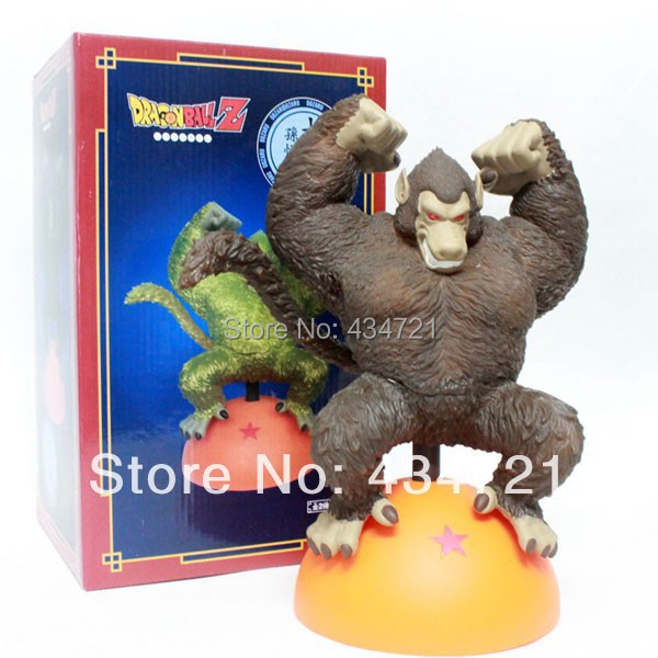 Klassisk Anime Comic Dragon Ball Z Son Goku Ape Oozaru Destroyer Guld Figur Ny i Box
