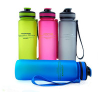 High Quality 4 Colors 650ml Portable Water Bottle Leakproof Tritan Material Sport Space Bottles Camping Kettle
