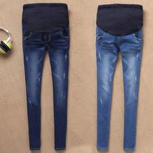 Dżinsy ciążowe dla kobiet w ciąży Ciąża zima ciepłe dżinsy spodnie ciążowe Odzież dla kobiet w ciąży spodnie do karmienia tanie tanio Maternity Regularne Lekki średni Poliester bawełna spandex Denim Envsoll Naturalny kolor Elastyczna talia M L XL XXL