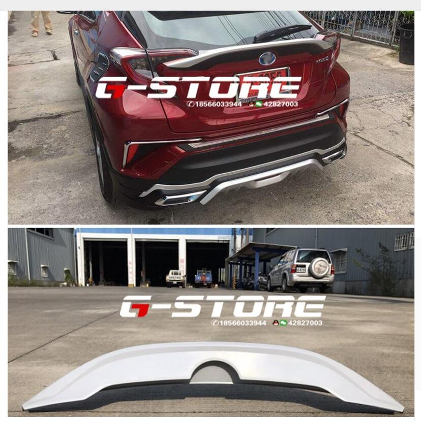 car accessories ABS PAINT CAR REAR WING TRUNK LIP SPOILER FIT FOR TOYOTA C-HR CHR 2017 2018car accessories ABS PAINT CAR REAR WING TRUNK LIP SPOILER FIT FOR TOYOTA C-HR CHR 2017 2018
