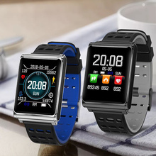 Get more info on the N98 Smart Watch Men Sports Fitness Tracker Waterproof Heart Rate Monitor Pedometer Clock Smartwatch with Steel or Silicone Strap