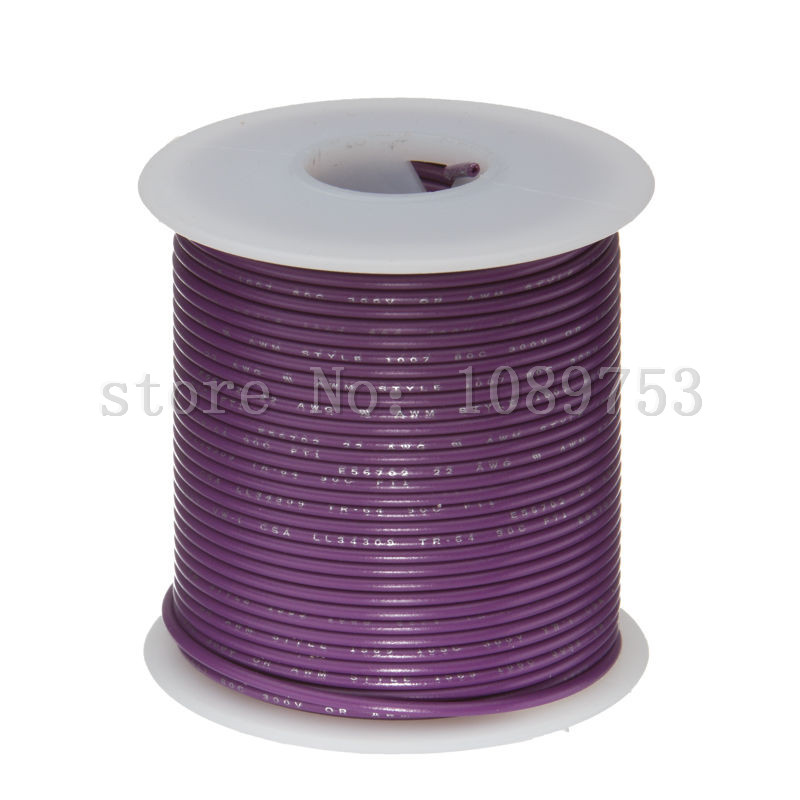Aliexpress buy 22 awg gauge stranded hook up wire purple 30m aliexpress buy 22 awg gauge stranded hook up wire purple 30m 100 ft 00253 ul1007 300 volts from reliable 22 awg suppliers on excellence electronic greentooth Choice Image