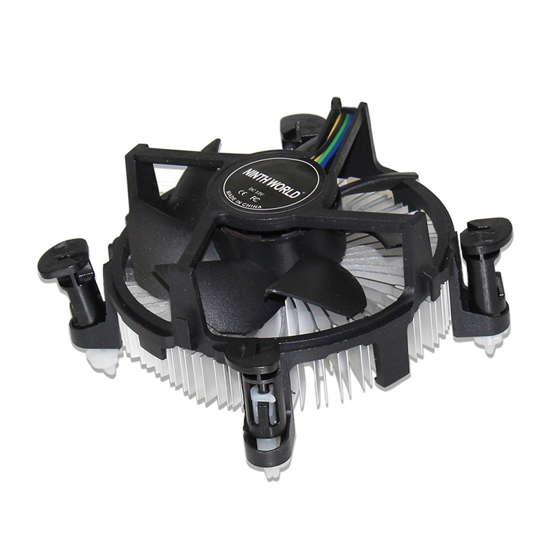 <font><b>Socket</b></font> <font><b>1150</b></font>/1155/1156 4-Pin Connector CPU Cooler With Aluminum Heatsink & 3.5
