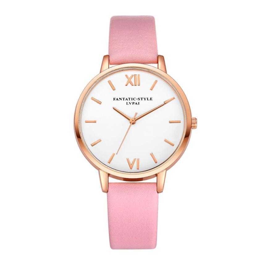 New Clock Watches Women brand Fashion dress ladies Watches Leather women Analog Quartz Wrist Watch Fashion Relogio Feminino #C стоимость