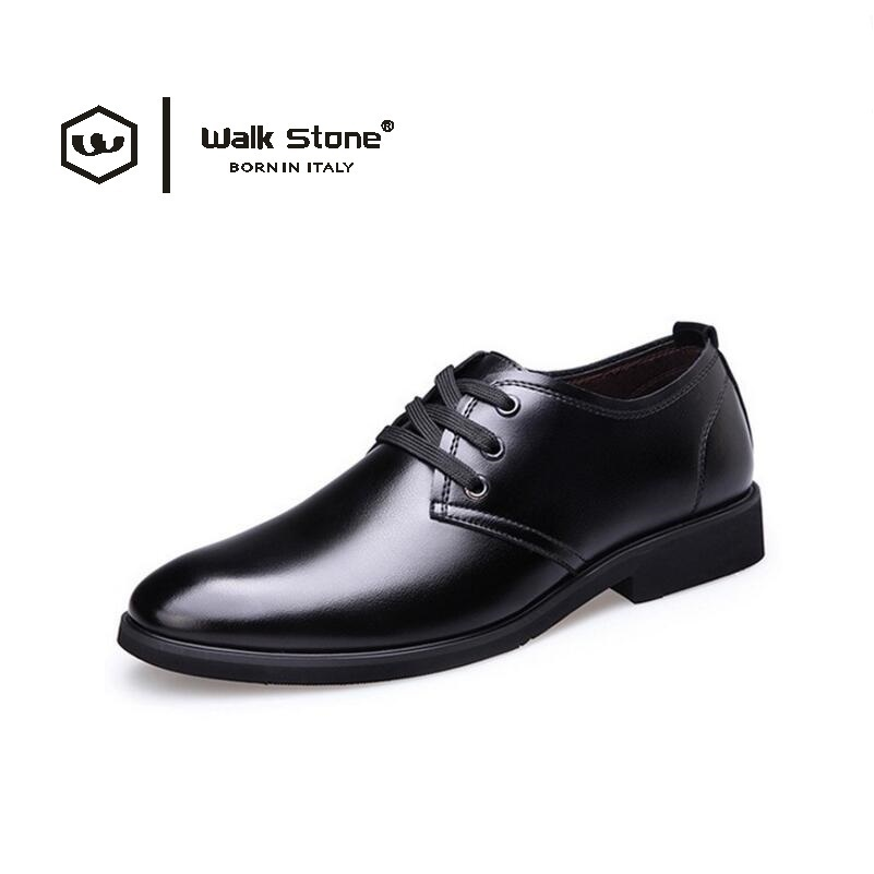 где купить Walk Stone Men's Leather Quality Casual Men Business Fashion Man Flats Formal Comfortable Office Dress Shoes sapato masculino tn по лучшей цене