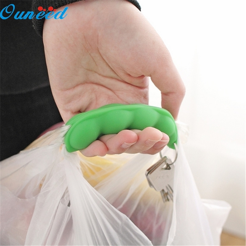 Ouneed Happy Home 2Pcs Silicone Portable Vegetables Device Labor Saving Shopping Bag Holder With Keyhole