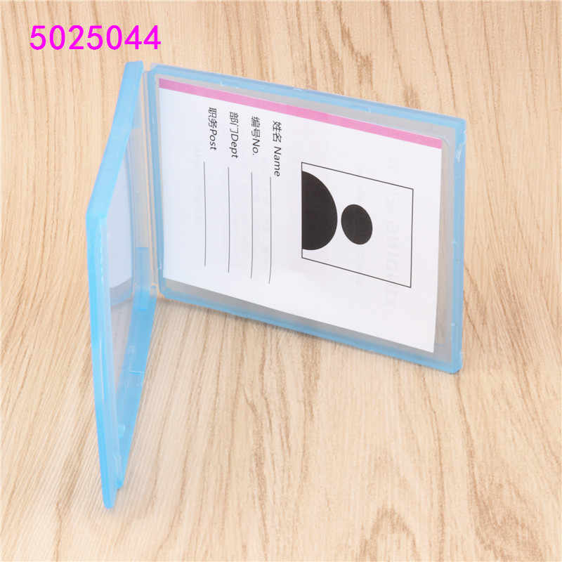 Transparent plastic card sleeve ID Badge Case Clear Bank Credit Card Badge Holder Accessories Reels  Key Ring Chain Clips