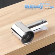 K10  Shower screen bathroom pipe top holder fitting Bracket  25mm SUS304 Chrome