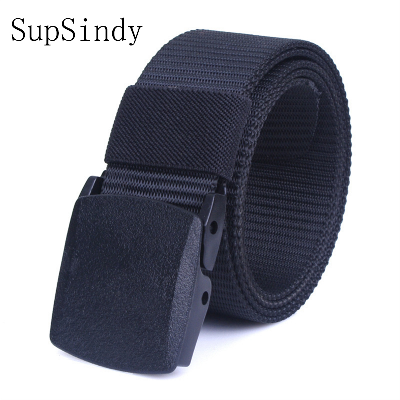 SupSindy POM Automatic nylon   belt   plastic buckle Top quality military fans tactical canvas   belt   For man and women Hot brand   belt