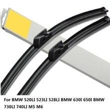2pcs lot Car dedicated Wipers Windshield Blades wipers For BMW 520LI 523LI 528LI BMW 630I 650I