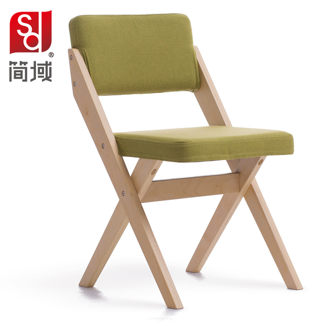 Jane Domain Of Solid Wood Dining Chair Simple Modern Cloth Art Chair Tea  Segmen Hotel Single