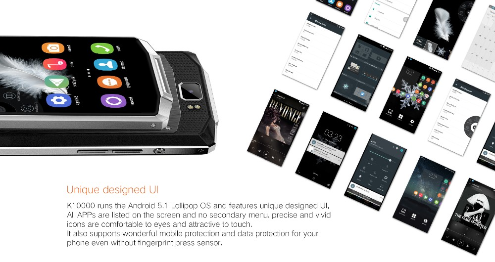 מקורי Oukitel K10000 טלפון נייד MTK6735P Quad Core 5.5 מסך אינץ אנדרואיד 5.1 2GB/16GB 10000mAh סוללה LTE 4G Smartphone