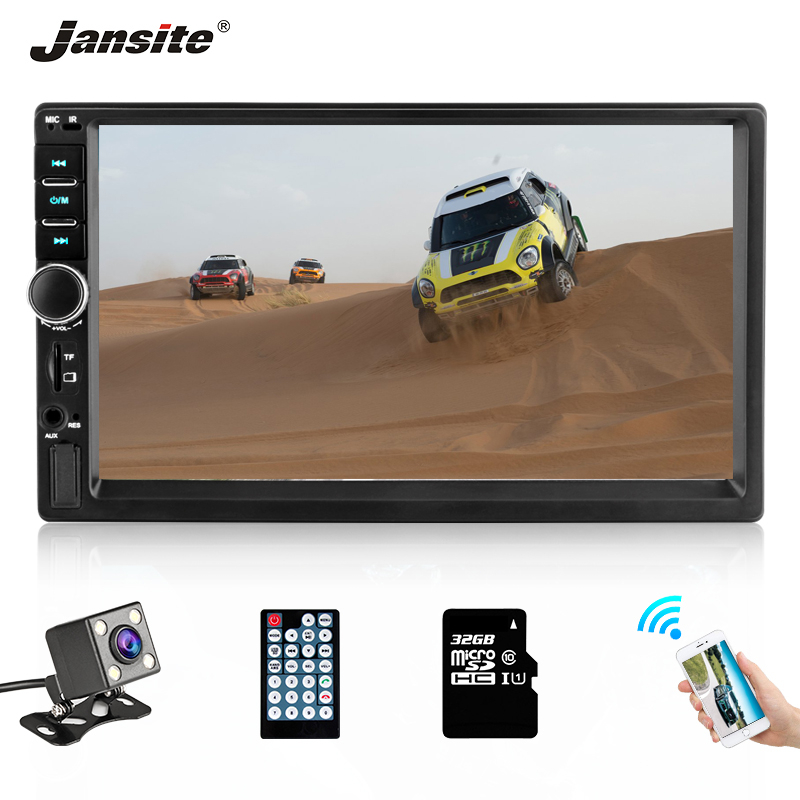 Jansite Car Radio MP5 player Digital Touch screen TF Card car multimedia player mirror 2din Vehicle