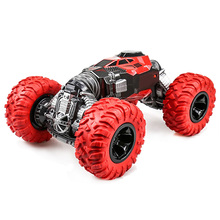 Double-Sided Rc Car 4Wd 2.4Ghz 1/16 One Key Transformation All-Terrain Vehicle Climbing Car Remote Control Truck Stunt Car все цены