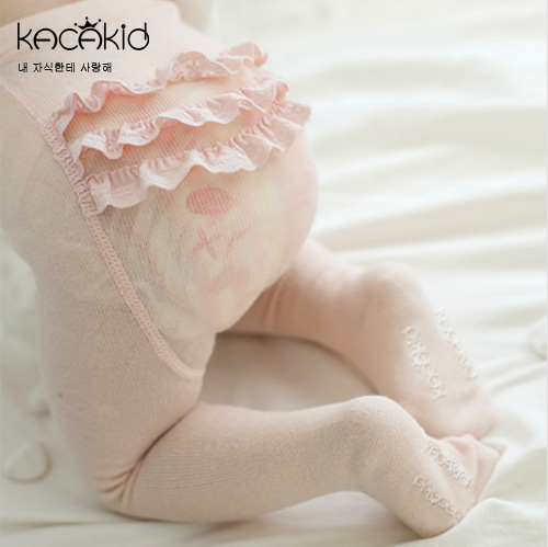 KACAKID Girl Stockings Tights Sweet Lace Pattern Baby Girls Cotton Anti-slip Lolita Kids ka1128
