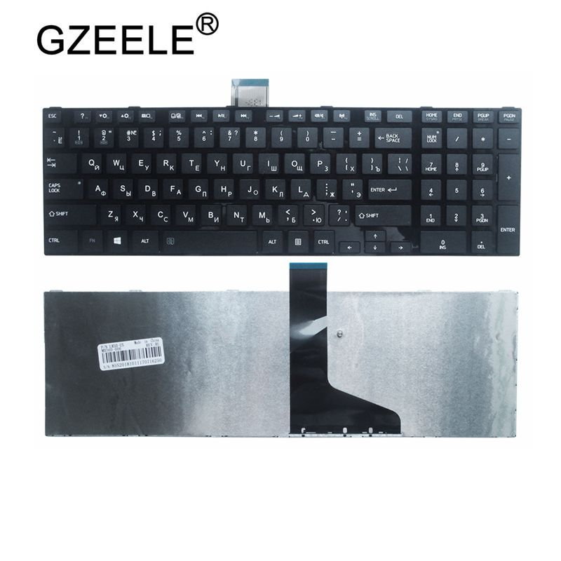 GZEELE NEW Russian Laptop Keyboard For TOSHIBA C855 L850-T01R S850 S855D RU Black