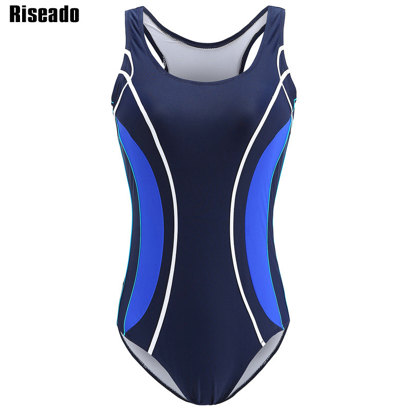 Riseado 2018 Sport One Piece Swimsuits Swimming Suits Professional Swimwear Women Racing Summer Beach Bathing Suits riseado new 2018 one piece swimsuit splice swimwear sports swimming suits women professional bathing suits training swimwear