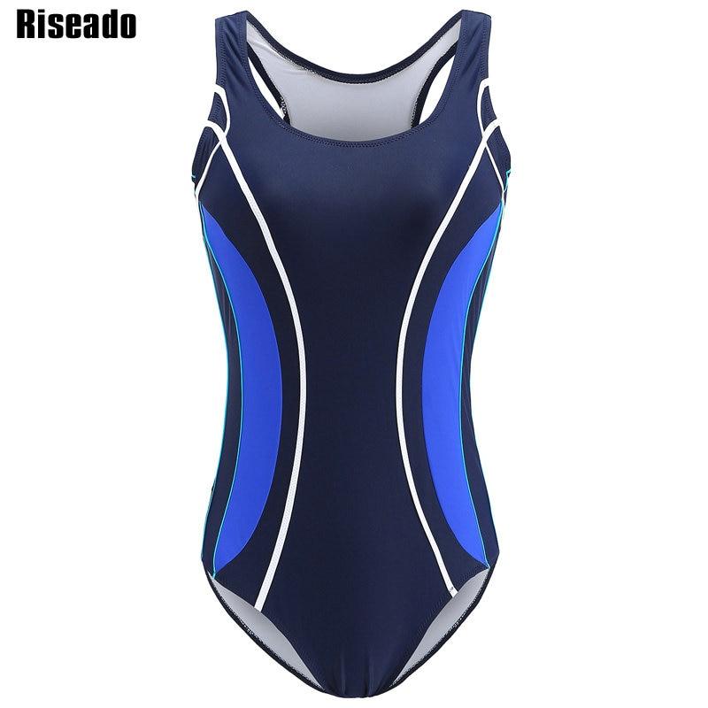 Riseado 2018 Sport One Piece Swimsuits Swimming Suits Professional Swimwear Women Racing Summer Beach Bathing Suits цена
