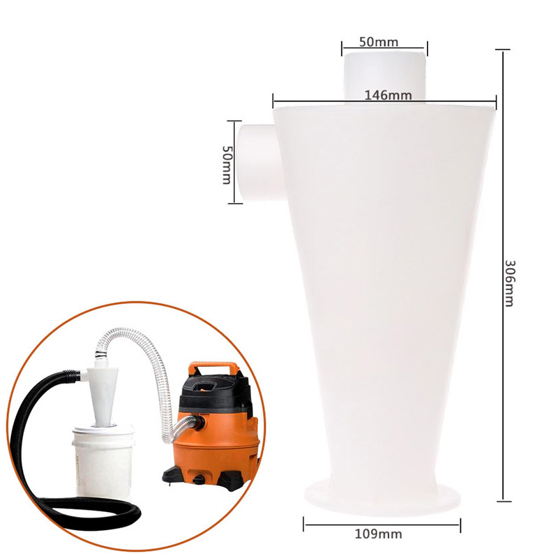 2018 High Efficiency Cyclone Powder Dust Collector Filter Quality New Turbine Separation Capture Vacuum Cleaner Accessories