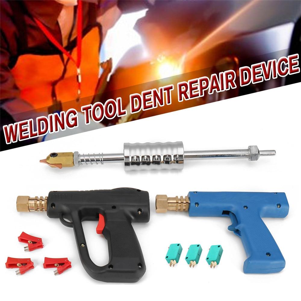 Spot Welding Machine Dent Repair Tool Kit Car Body Stud Dent Puller Welding G U N Hammer For Dent Spot Repair Device