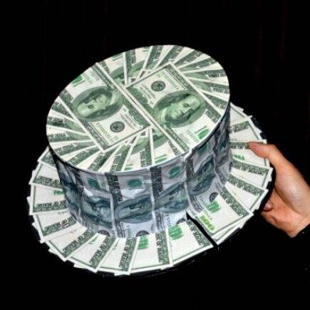 Bill devient un chapeau haut-de-forme (modèle Dollar américain) Bill Fan à Bill chapeau haut-de-forme tours de magie accessoire de scène accessoires Gimmick comédie - 2