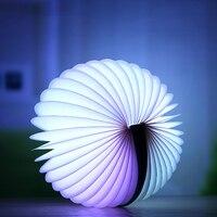 LED Color Changing Remote Control LED Book Light Portable Rechargeable Folding Book Light Atmosphere Lights Bedside