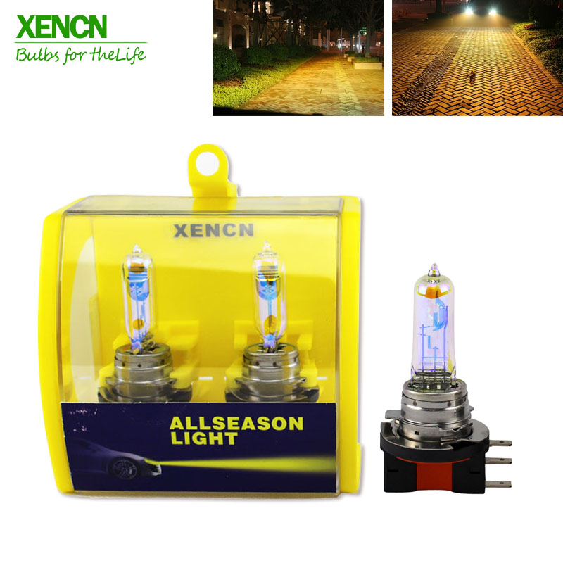 ФОТО XENCN H15 2300K Super Bright Yellow Light DOT EMARK Quality Halogen Car parking Bulb Fog Lamp 12V15/55W  for honda golf