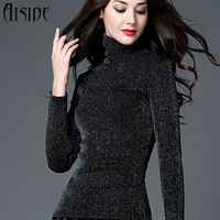 האופנה סוודרים נשים 2016 שמלות Sweter נשים סריגת חורף סתיו אביב סוודרי חולצות עין הפוכה דק נוח