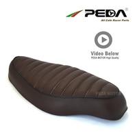 N3 PEDA Cafe racer seat 54cm Vintage Brown SR for HONDA Super Cub universal Motorcycle Retro Saddle Asiento Sitz Sattel
