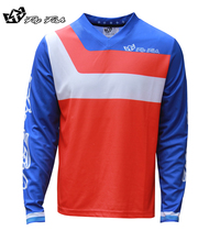FLY FISH Racing Mens GP Jersey Prisma Orange MX Motocross Off-Road MTB Mountain Bike moto DH BMX motocross jersey