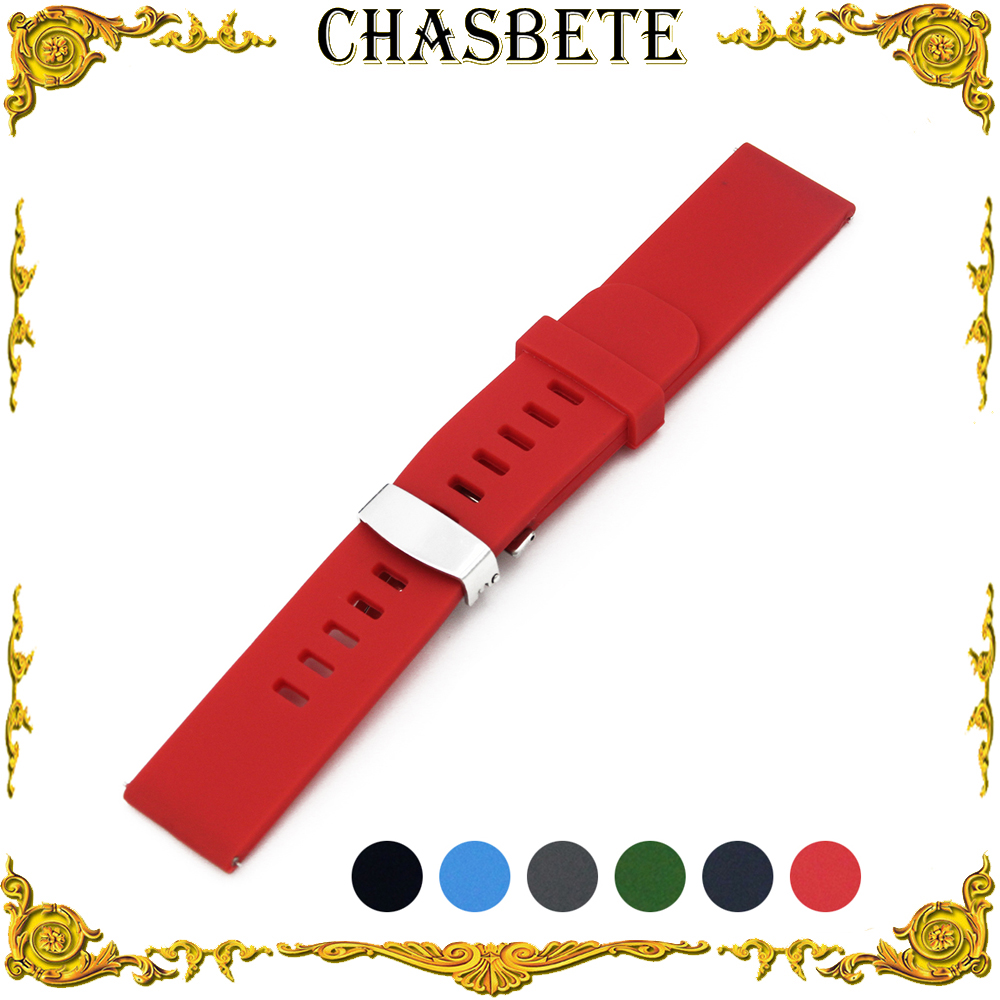 18mm 20mm 22mm Silicone Rubber Watch Band for Timex Weekende