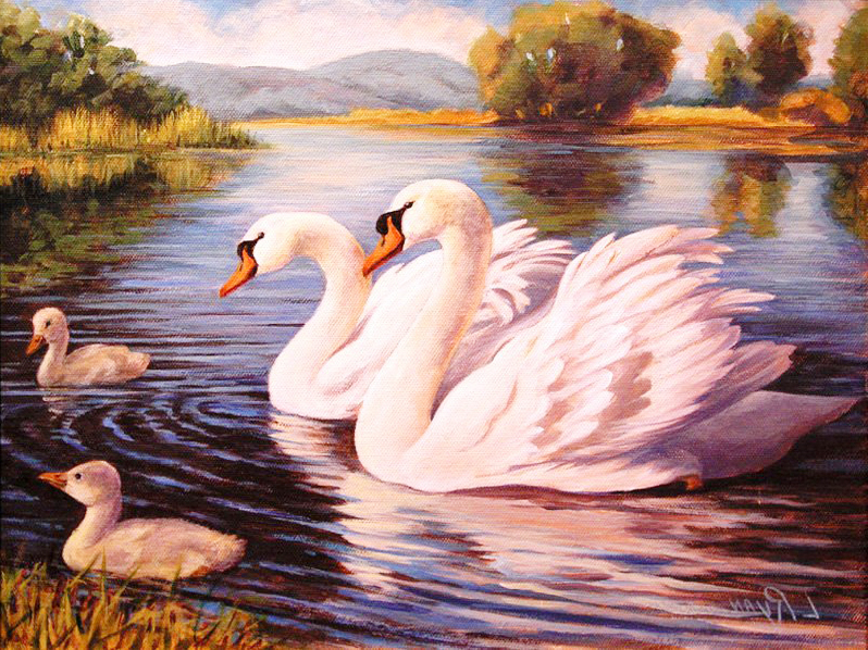 A2933 Diamond Embroidery Home Decor Cross Stitch Swan 100% Resin Tool dril Painting Mosaic Needlework