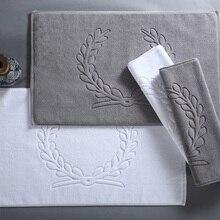 Роскошное полотенце из хлопка для дома в отеле, коврик для ванной комнаты, впитывающий нескользящий коврик для ванной, коврик для ног, коврик для туалета, 45*75 см, 50*80 см