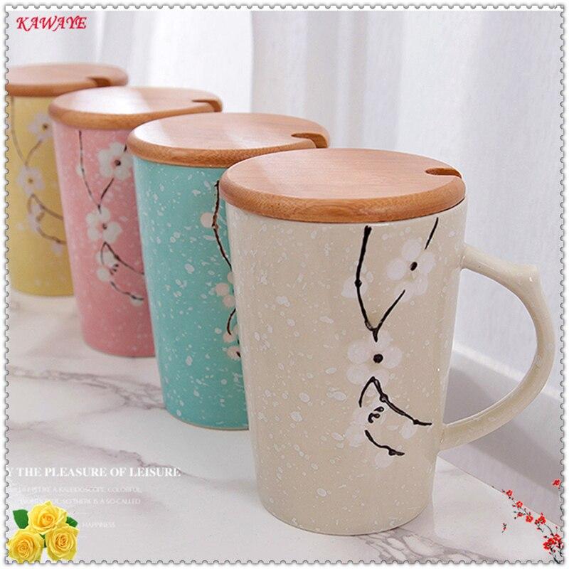 1set Lovers Cup Creative Hand Painted Ceramic Mug Creative Gift Coffee Cup Give The Girl Birthday Present Mug 5ZDZ324
