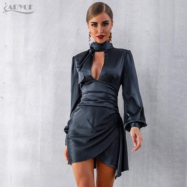 Black Long Puff Sleeve Mini Club Dress  1