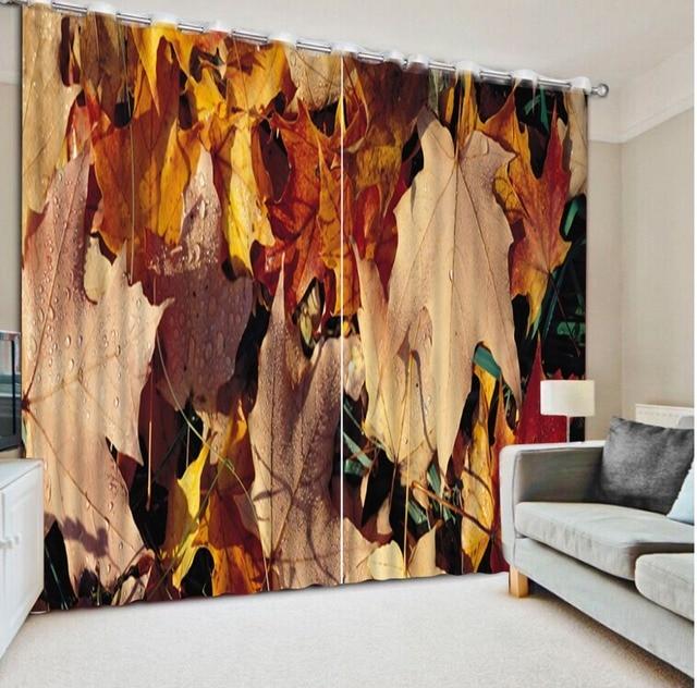 Kundenspezifische Moderne Vorhang Wohnzimmer Schlafzimmer Vorhänge  Dekoration Ahornblatt Vorhang Foto Farbe 3D Fenster Vorhänge