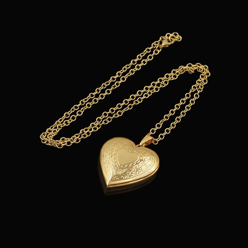 Marka naszyjnik z medalionem w kształcie serca dla kobiet biżuteria złoty kolor cadena serce wisiorek modny śliczny naszyjnik hurtownia collares