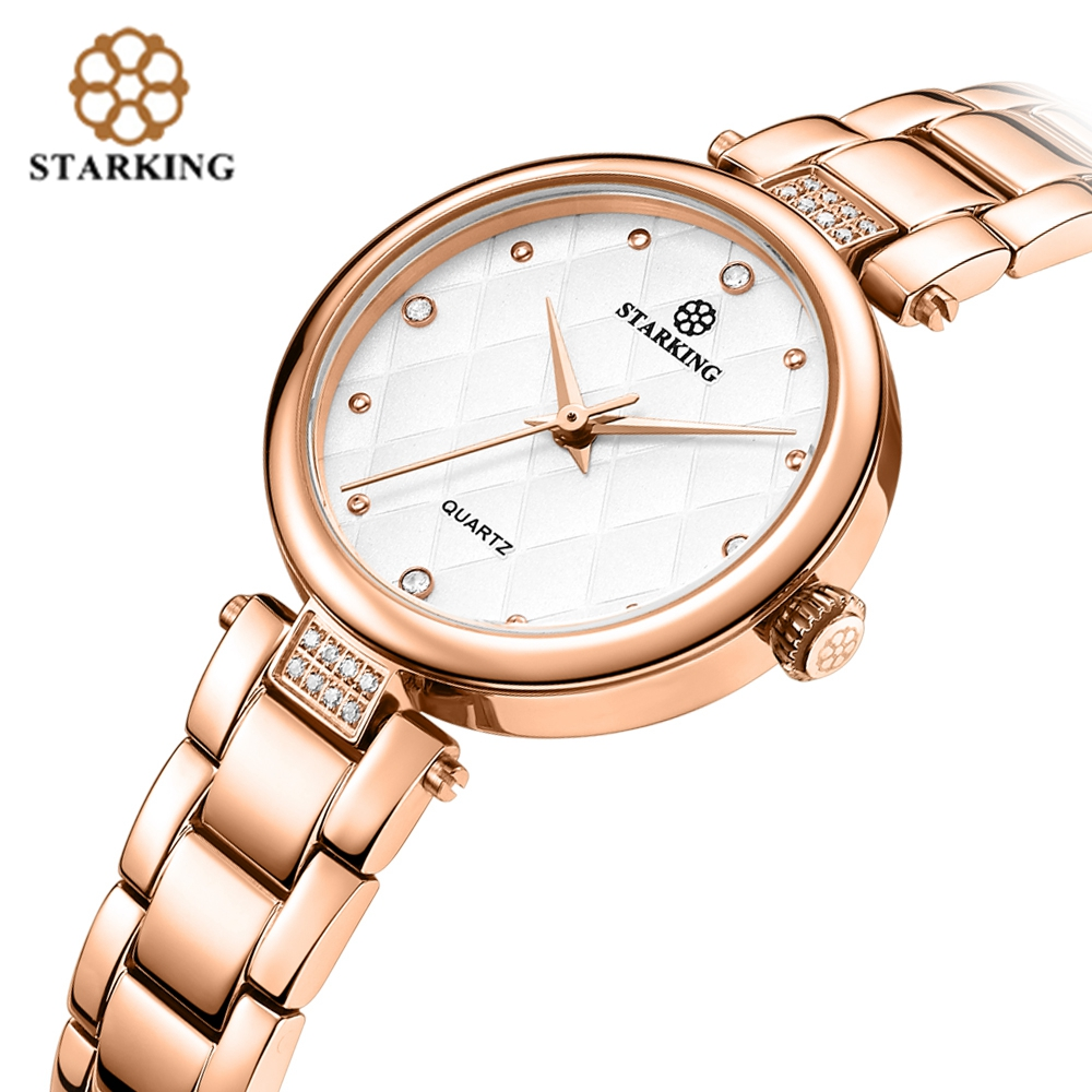STARKING Casual Women Diamond Quartz Watches Female Dress Party Rhinestone Wrist Watch Fashion Ladies Water Resistant Bangle цена 2017