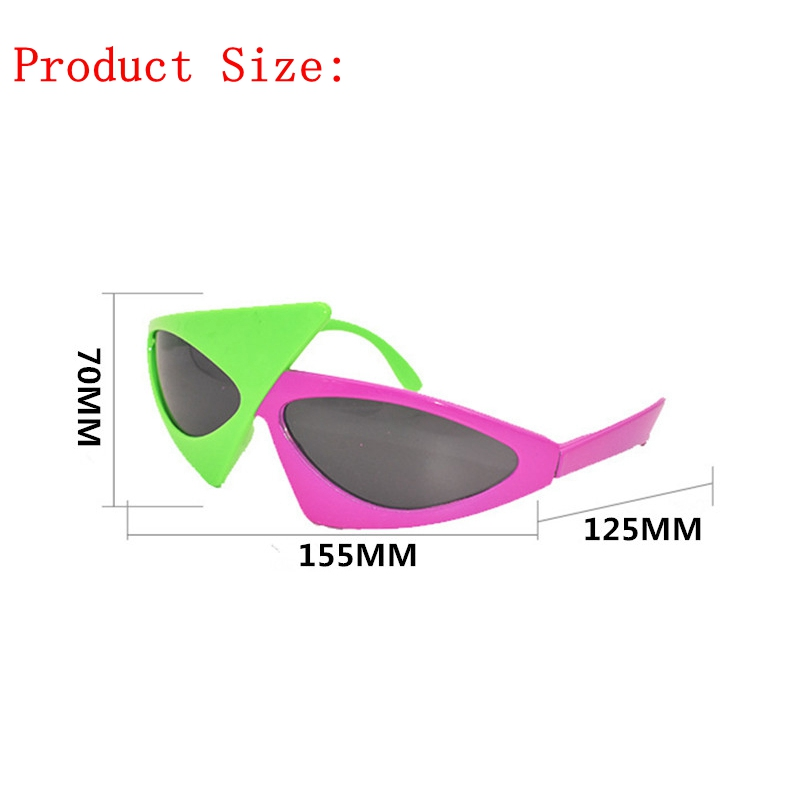7e1ae392d0 Novelty Green Pink Contrast Color Glasses Roy Purdy Style Hip Hop  Asymmetric Triangular Sunglasses Party Supplies Decoration-in Party Masks  from Home ...