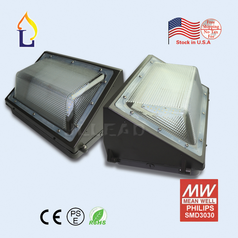 Hyperselect Led 100w Wall Pack Light: 10PCS/LOT US Warehouse 60W/80W/100W LED Wall Pack Light