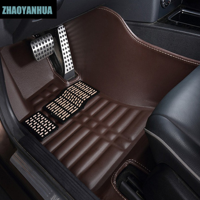 ZHAOYANHUA Car floor mats for Peugeot 206 207 2008 301 307 308sw ...