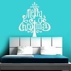 Wall Sticker Merry Christmas Tree Design PVC Vinyl Removable Home Decor Tree Sign Decoration DIY Murals MC09