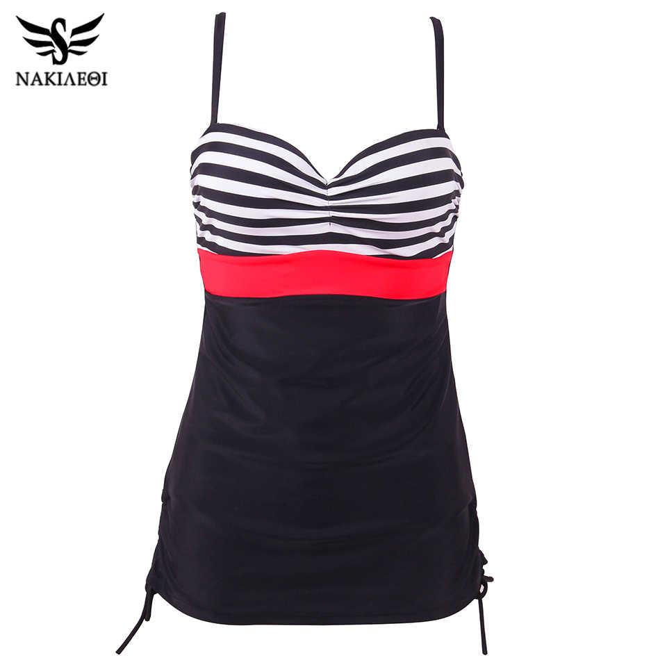 Nakiaoi плюс размер купальники Цельный купальник 2019 ретро купальный костюм для женщин купальный костюм пляжное платье Купальник большого размера